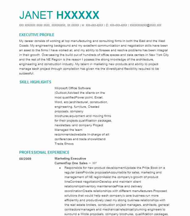 marketing executive resume example tree code sdn hd new maintenance examples front desk Resume Marketing Executive Resume