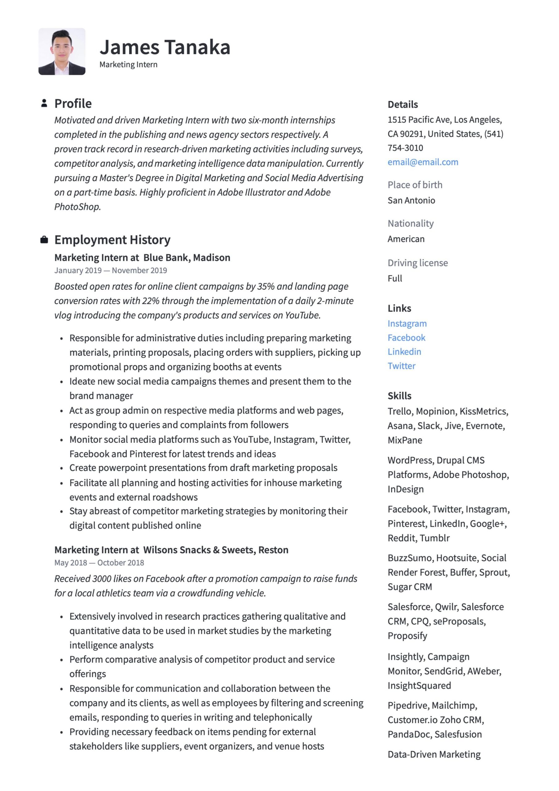 marketing intern resume writing guide templates student best file type for combination Resume Marketing Student Resume