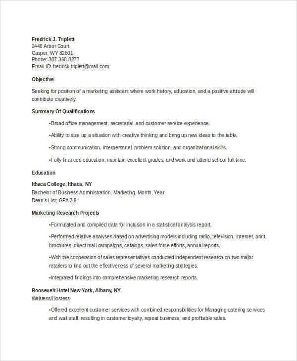 marketing resume templates in word free premium student example jr developer after school Resume Marketing Student Resume