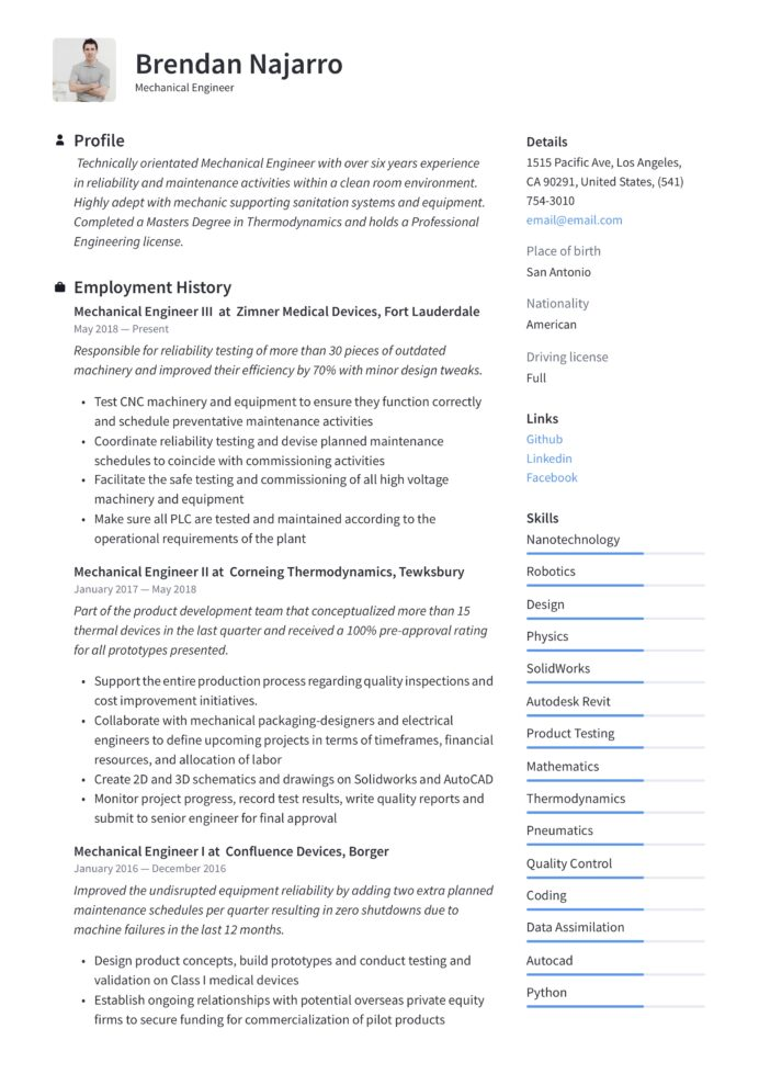 mechanical engineer resume writing guide templates pdf application acting for college Resume Mechanical Application Engineer Resume