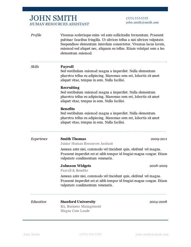 microsoft word is the clear winner among processors description from free resume template Resume Microsoft Resume Templates Free