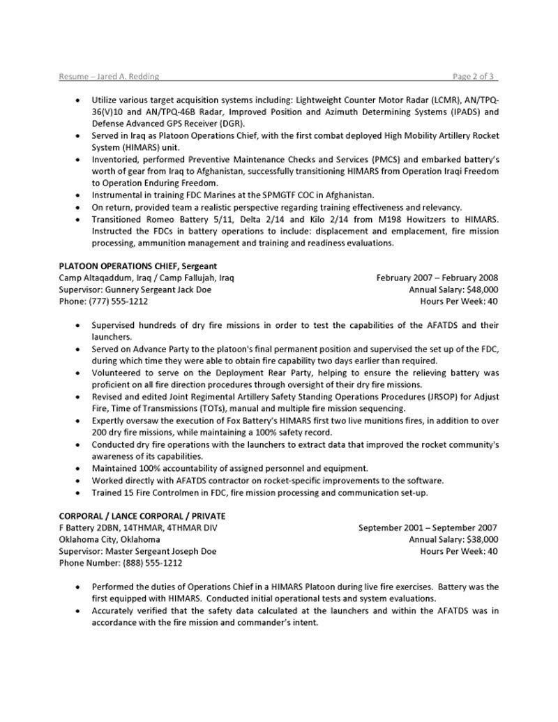 military resume first sergeant civilian free hosting personal security detail investment Resume First Sergeant Civilian Resume