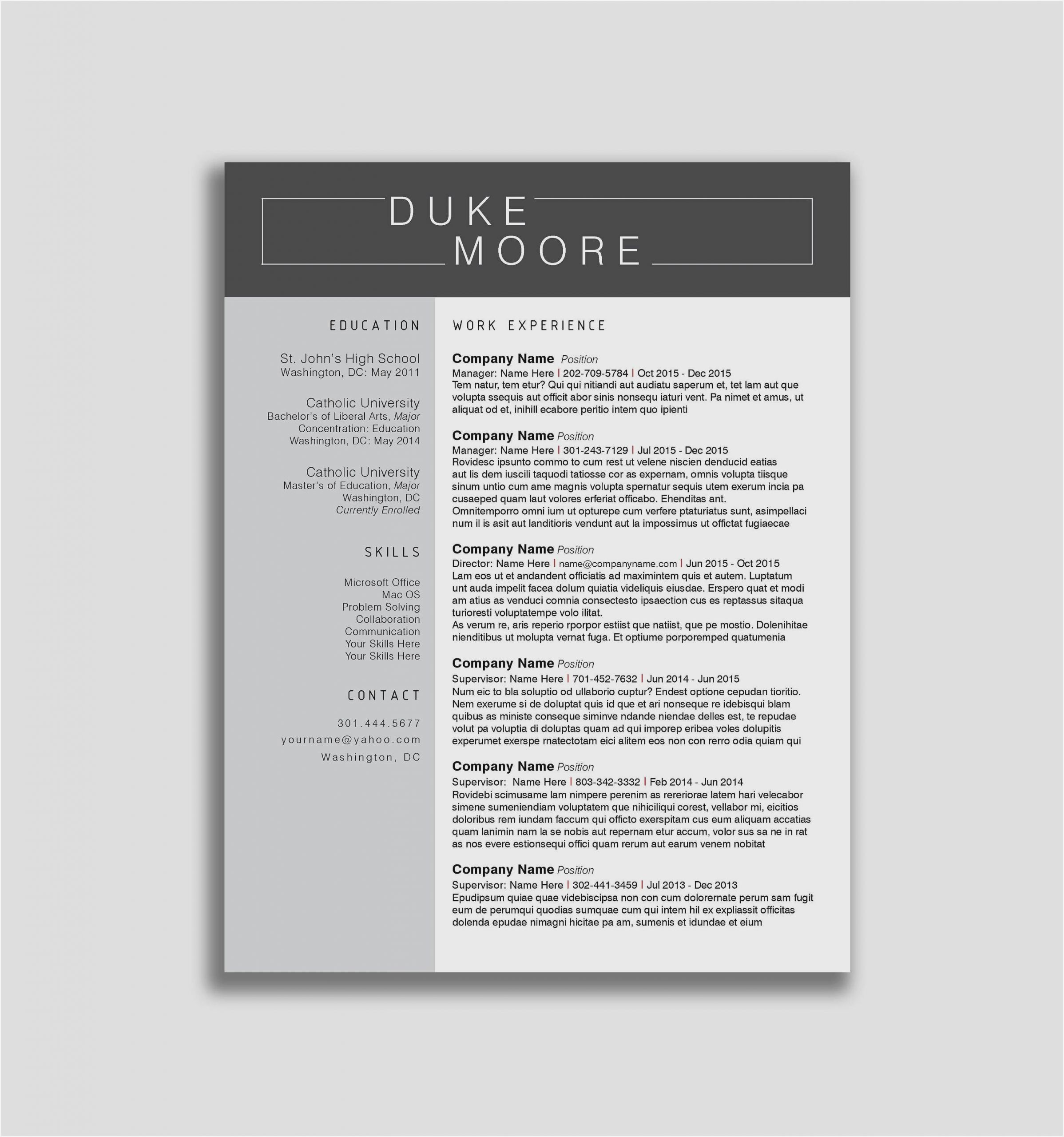 modern resume template free sample cool templates scaled hybrid examples movie catering Resume Cool Resume Templates Free Download