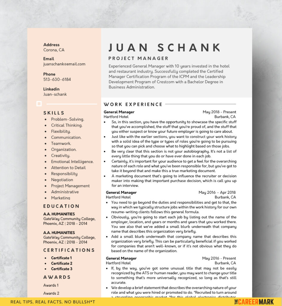modern resume template free the career mark templates your 945x1024 quality control Resume Resume Templates Download Your Free Resume Template