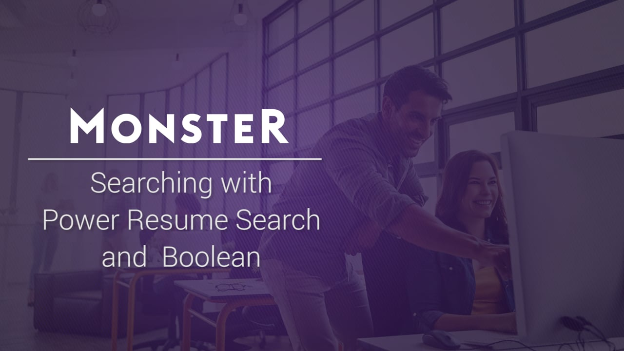 monster resume search boolean keyword strings on vimeo classic 1280x720 sample high Resume Monster Classic Resume Search