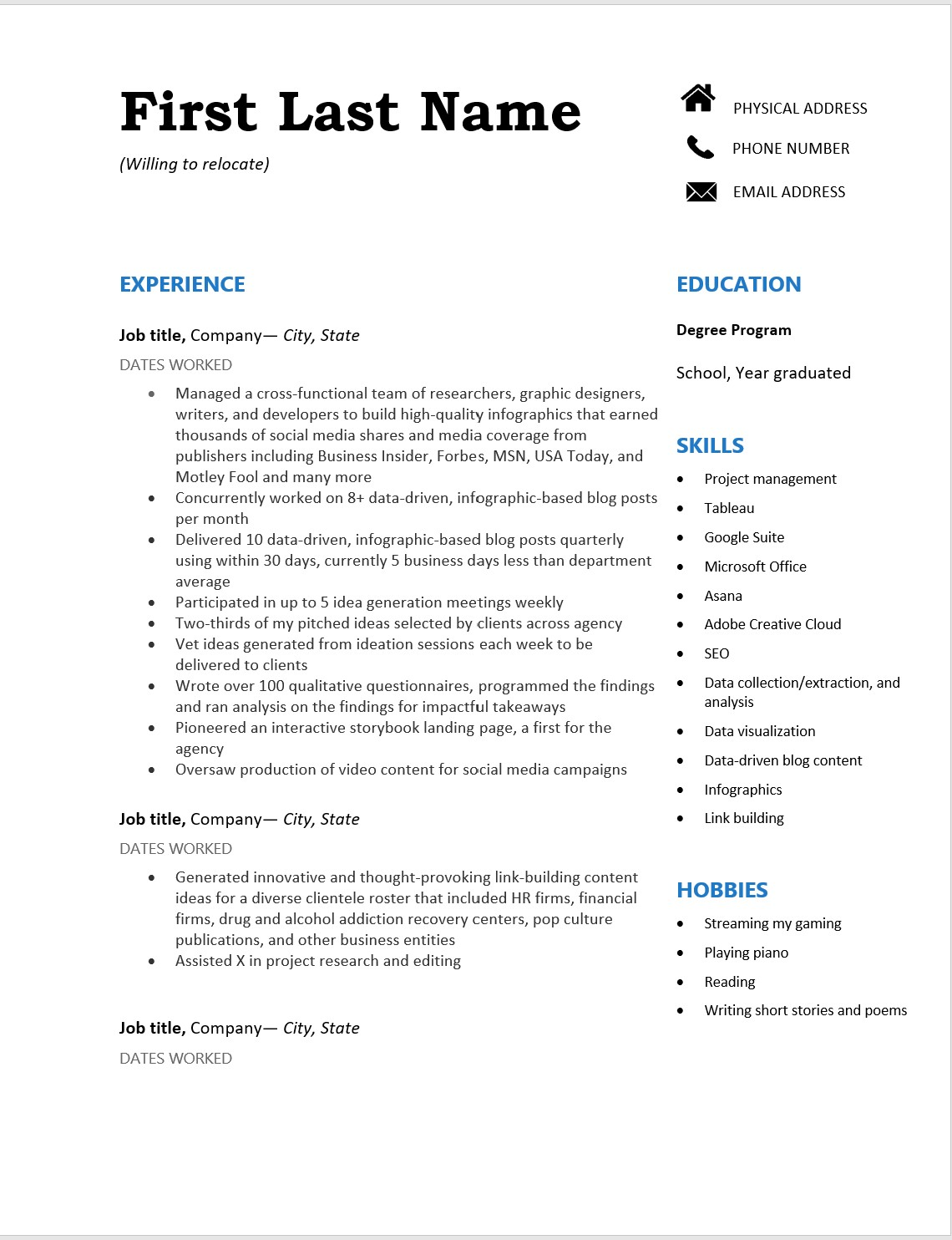 need help improving my resume desperately to find work should years of unrelated jobs Resume Relevant Experience Resume