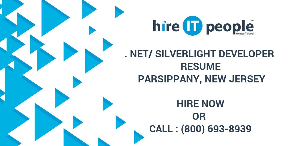 net silverlight developer resume parsippany new hire it people we get done environmental Resume Silverlight Developer Resume