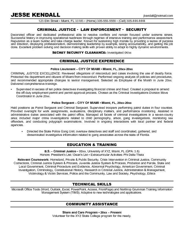 objective resume criminal justice free templates examples sample for recent college Resume Sample Resume For Recent College Graduate Criminal Justice