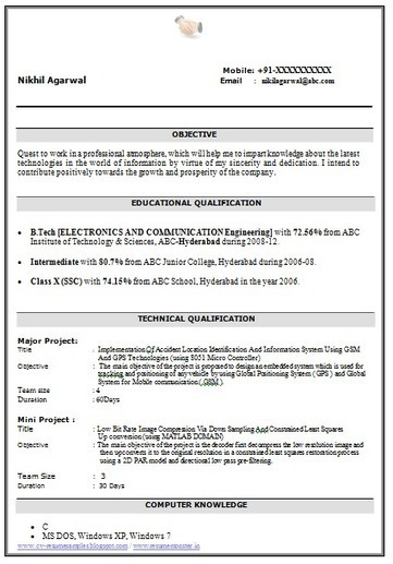over cv and resume samples with free down for electronics communication engineers Resume Resume Samples For Electronics And Communication Engineers