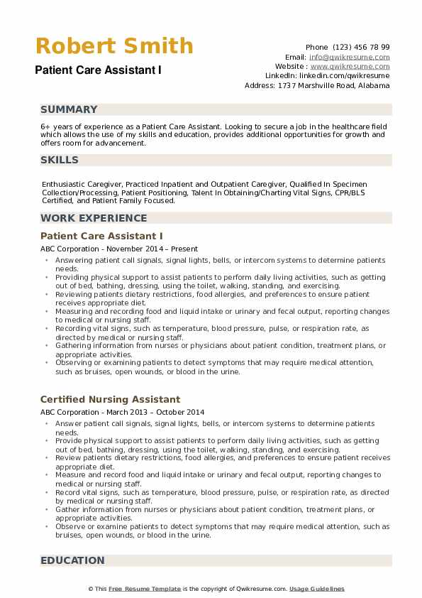patient care assistant resume samples qwikresume health sample pdf social services word Resume Health Care Assistant Resume Sample