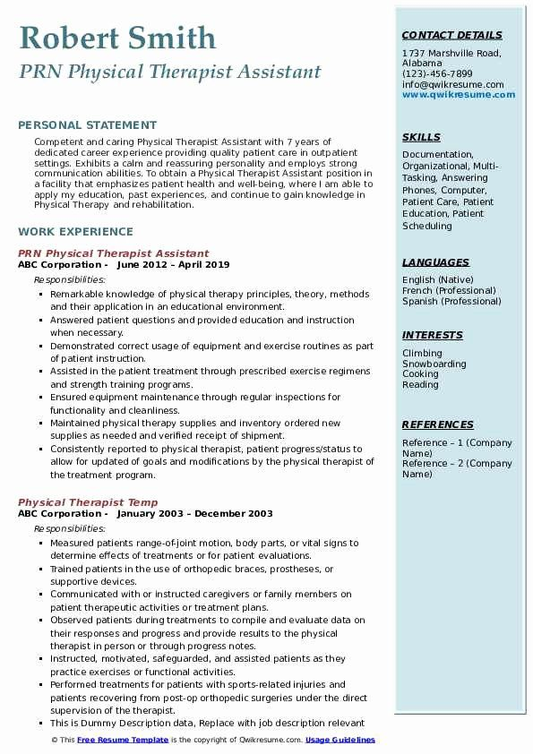 physical therapist assistant resume examples inspirational in business analyst teacher Resume Physical Therapist Assistant Resume Professional Summary