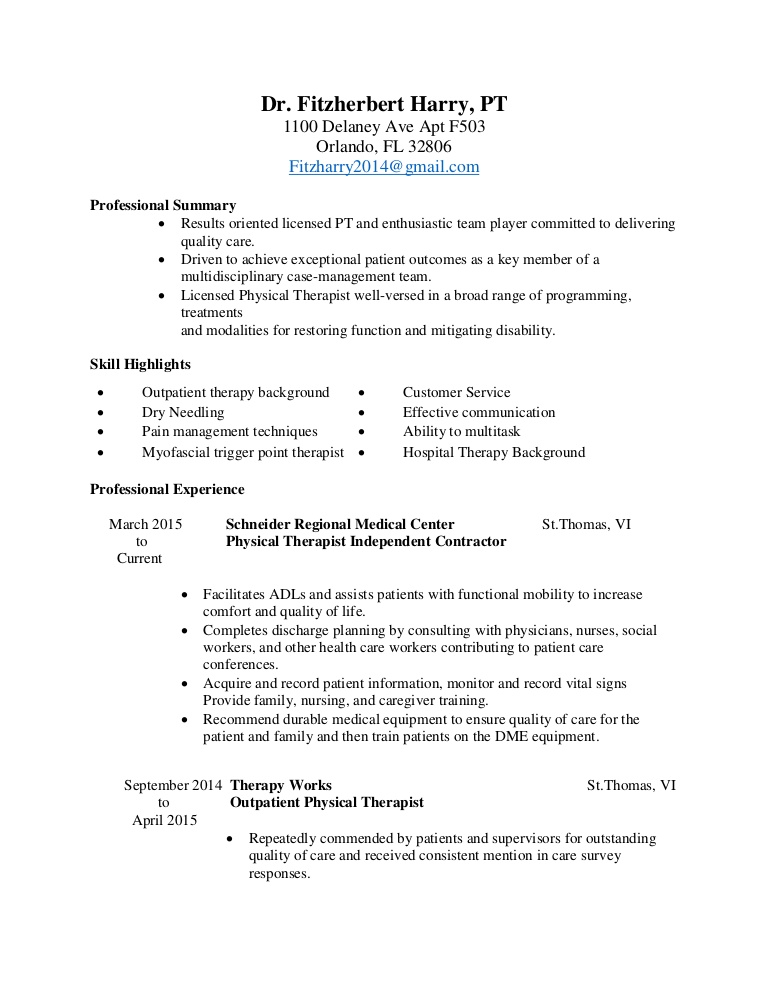 physical therapy resume therapist assistant professional summary thumbnail social media Resume Physical Therapist Assistant Resume Professional Summary