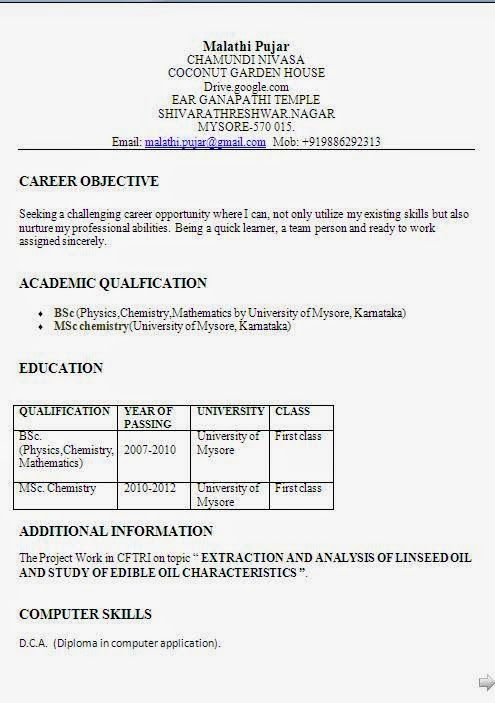 pin on brainfood resume format for bsc chemistry freshers believe synonym academic Resume Resume Format For Bsc Chemistry Freshers