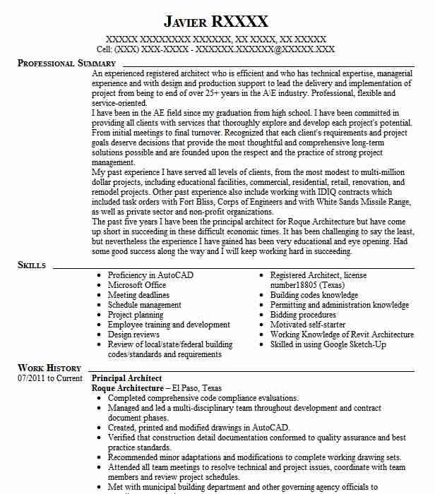 principal architect resume example puet corporation south for data entry job without Resume Principal Architect Resume
