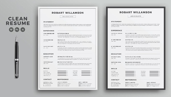 printable resume template free word pdf documents premium templates your sample for Resume Resume Templates Download Your Free Resume Template