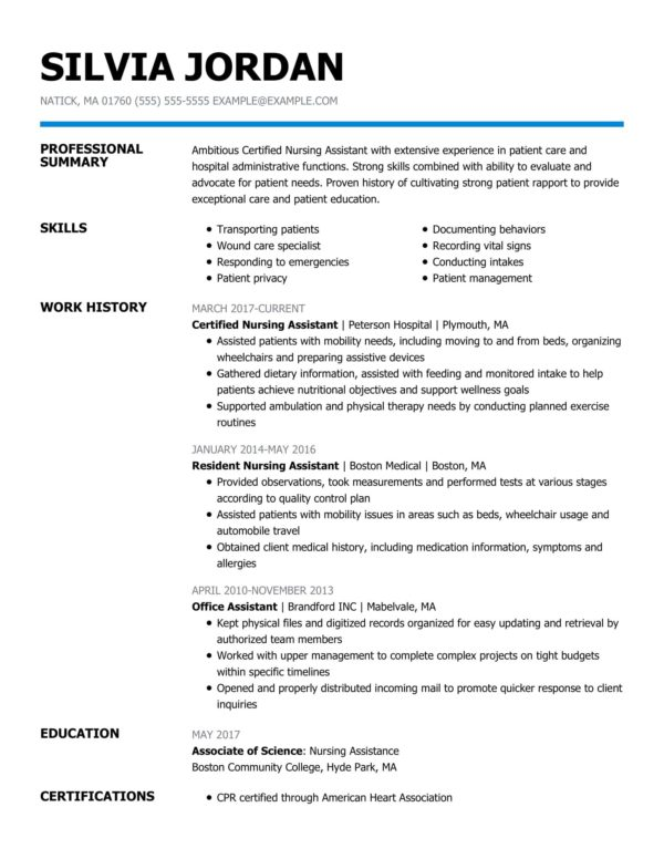 professional nursing resume examples livecareer qualifications certified assistant sound Resume Nursing Resume Qualifications Examples