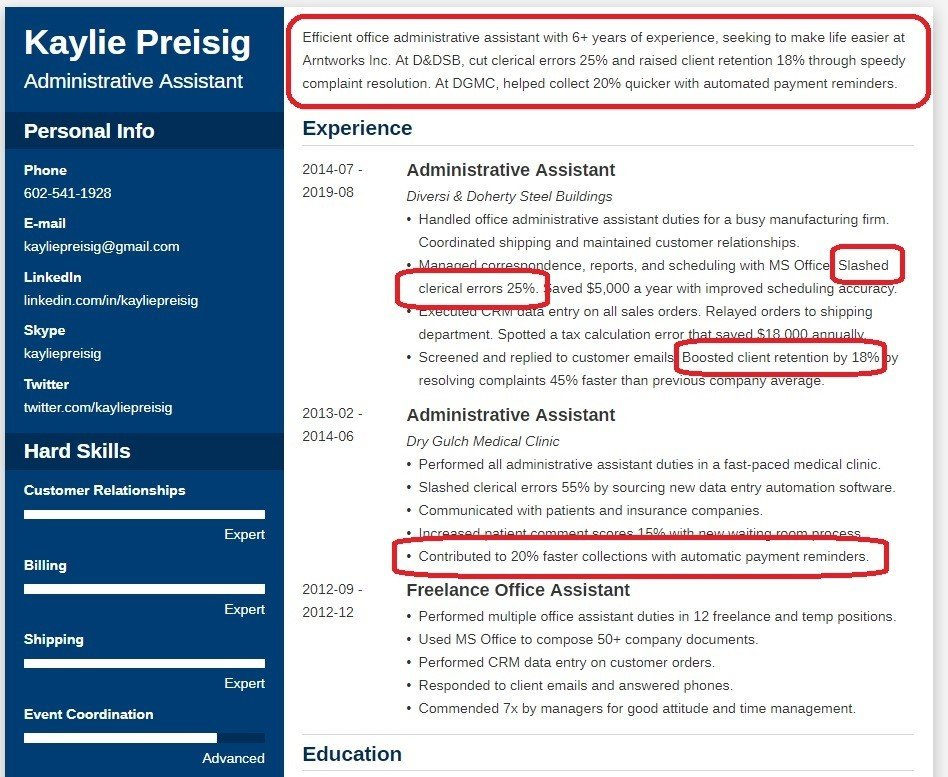 professional resume profile summary examples make fast and easy vba on error next Resume Make A Resume Fast And Easy