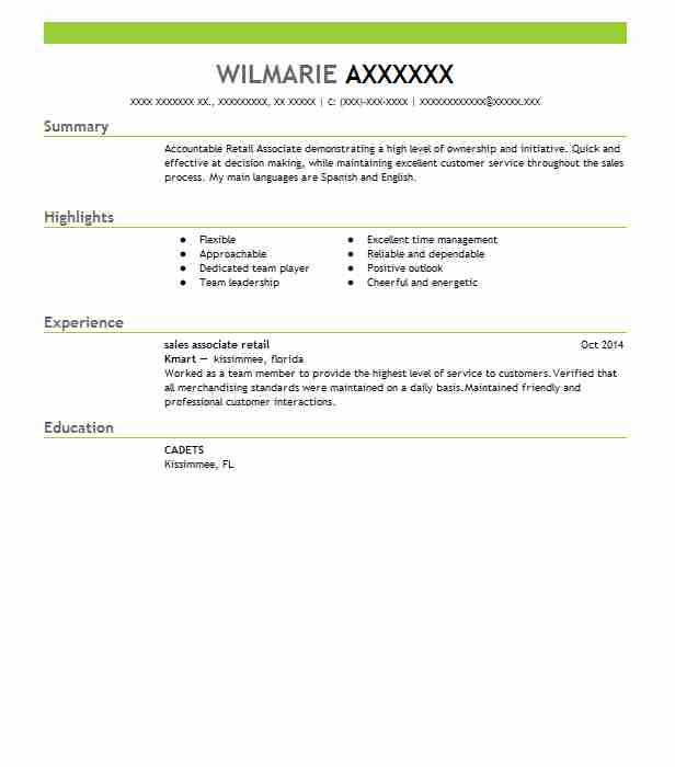 professional retail associate resume examples livecareer summary for templates apple Resume Professional Summary For Retail Resume
