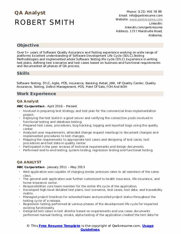 qa analyst resume samples qwikresume software testing for years experience pdf junior Resume Software Testing Resume Samples For 5 Years Experience