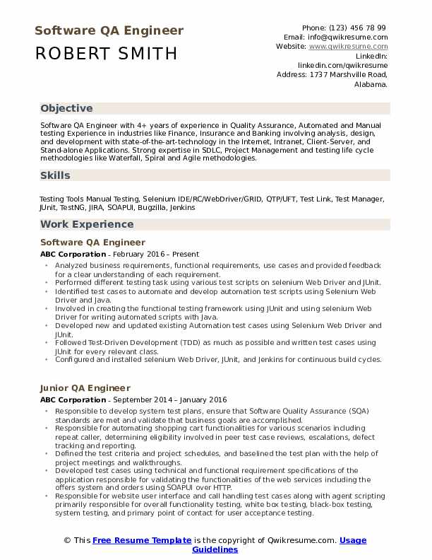 qa engineer resume samples qwikresume software testing for years experience pdf mortgage Resume Software Testing Resume Samples For 5 Years Experience
