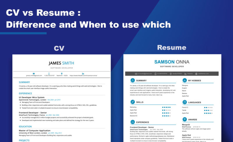 remarkable difference between cv and resume core differences curriculum vitae biodata Resume Difference Between Curriculum Vitae And Resume And Biodata