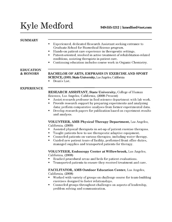 research assistant resume example sample experience grad1a strong examples server Resume Research Experience Resume