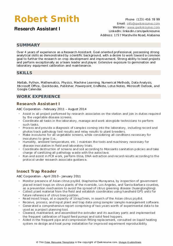 research assistant resume samples qwikresume experience pdf federal example strong Resume Research Experience Resume