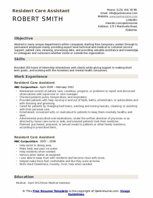 resident care assistant resume samples qwikresume health sample pdf nerd refund personal Resume Health Care Assistant Resume Sample