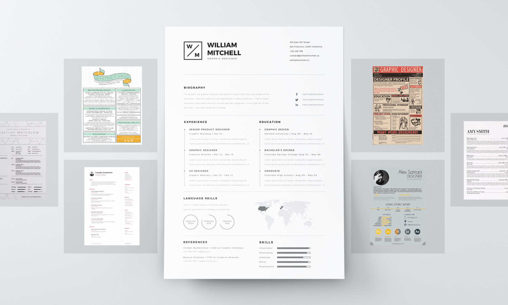 resume design principles that get you hired 99designs creative headings resumes industry Resume Creative Resume Headings