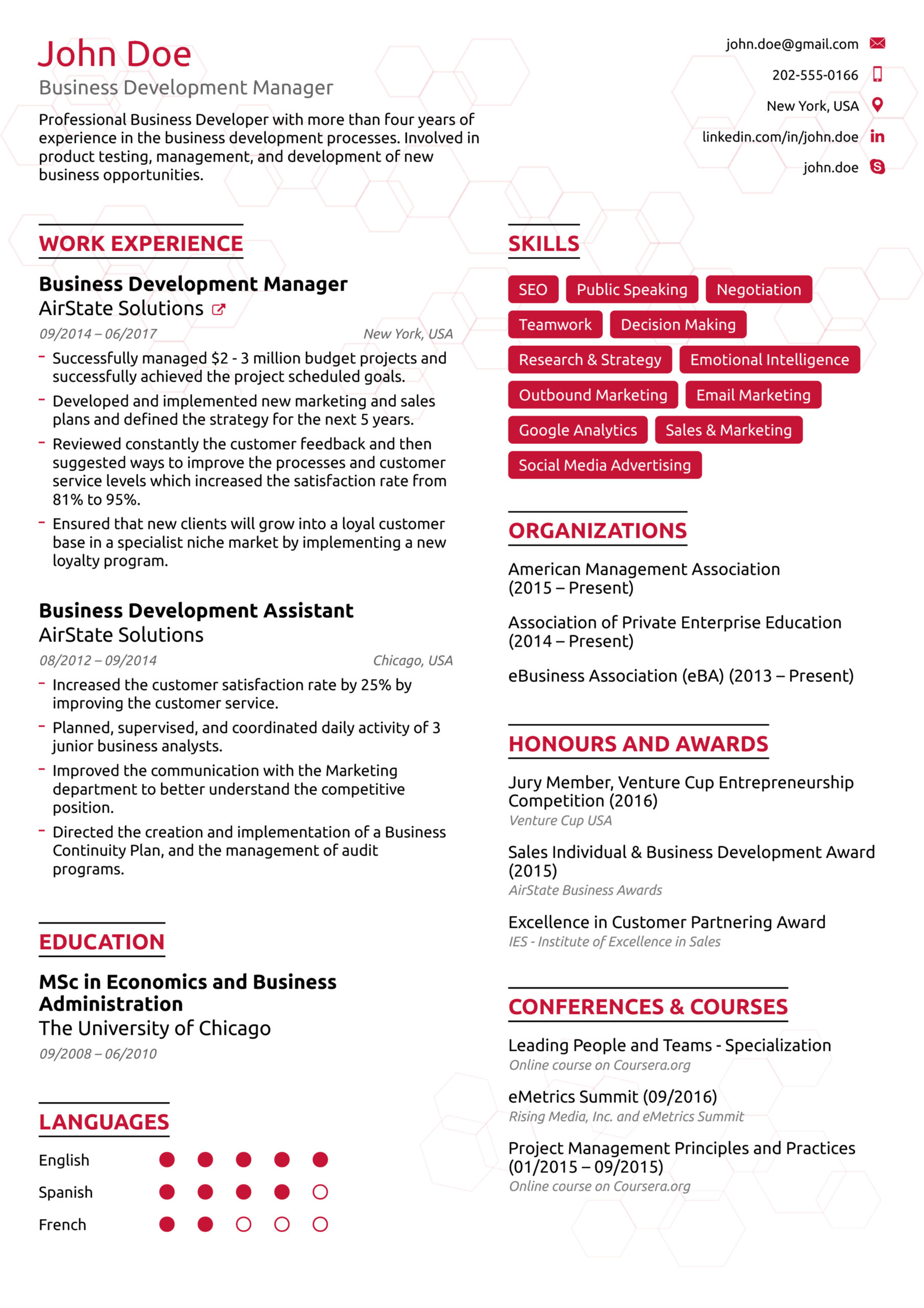 resume examples guides for any job good format best example data science review hostess Resume Good Resume Format 2016