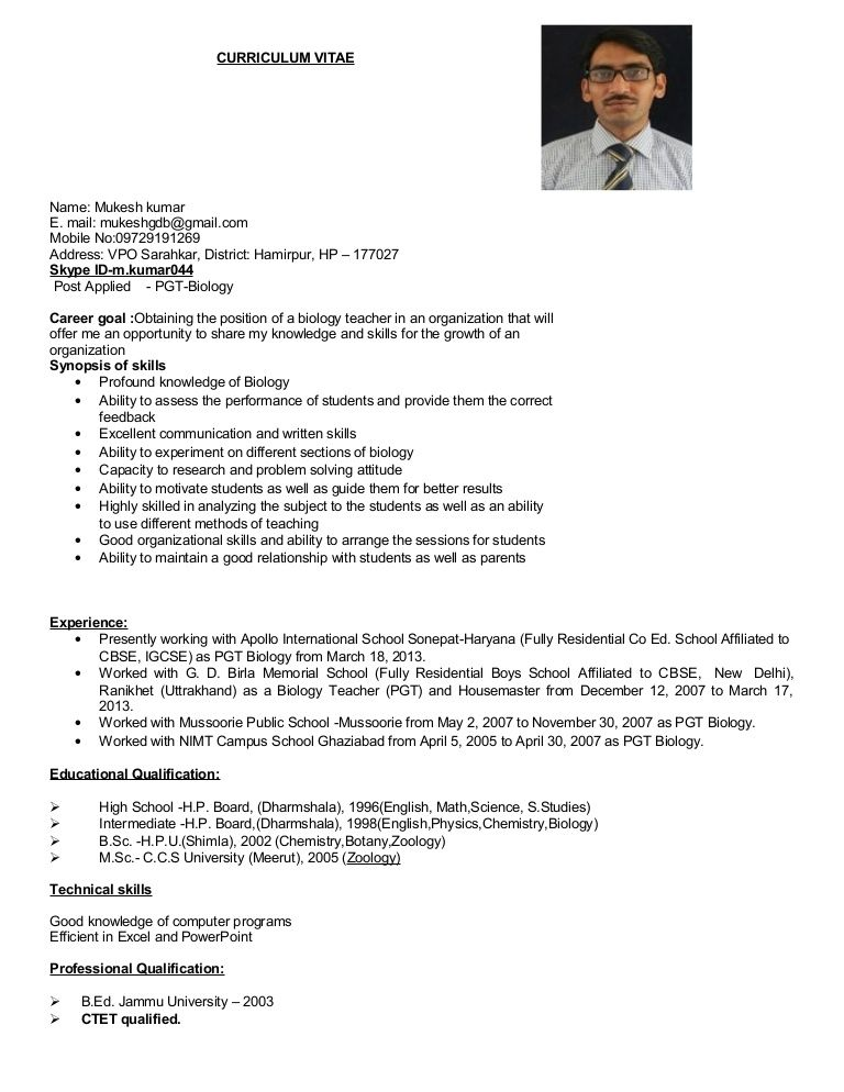 resume format for msc zoology job bsc chemistry freshers entry level statistician Resume Resume Format For Bsc Chemistry Freshers