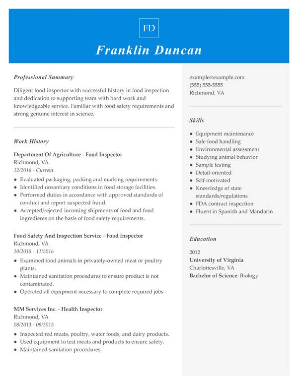 resume formats guide my perfect most used format combination food inspector challenge cup Resume Most Used Resume Format