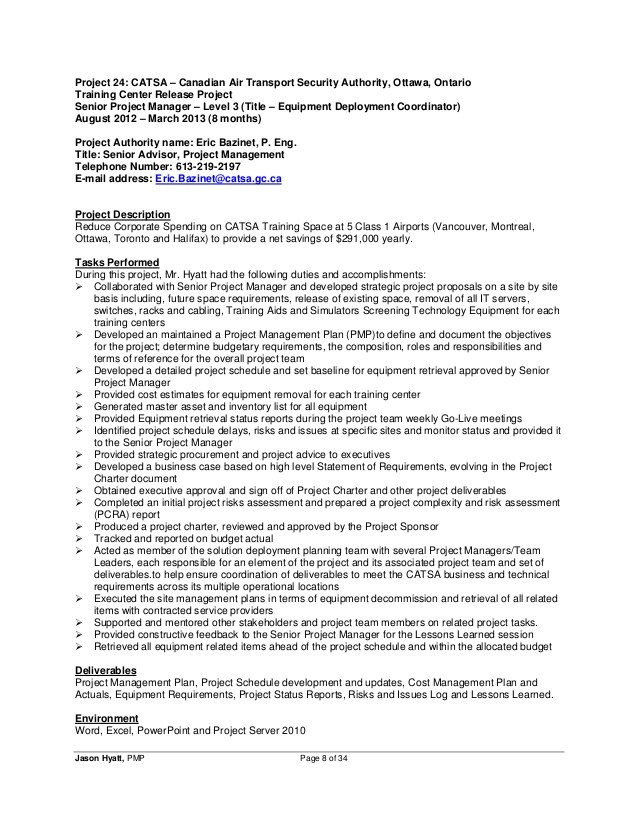resume senior it project manager free samples writing guides for all deployment jason Resume Deployment Manager Resume