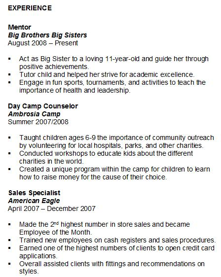 resume volunteer work experience sample to on your or leadership studentexperience for Resume Volunteer Experience Or Leadership On Resume