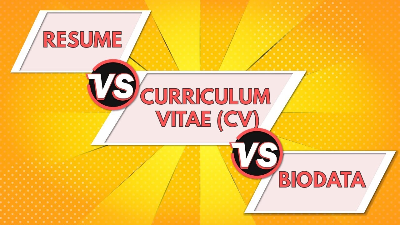 resume vs curriculum vitae biodata differences between cv and animated difference brief Resume Difference Between Curriculum Vitae And Resume And Biodata