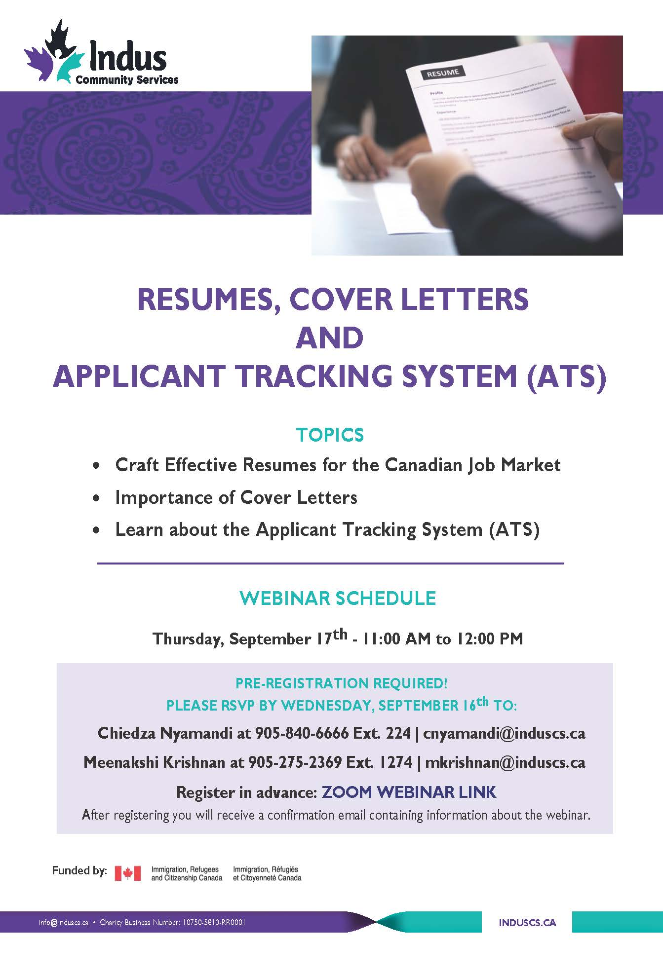 resumes cover letters and the applicant tracking system ats webinar charityvillage Resume Listing Webinars On Resume