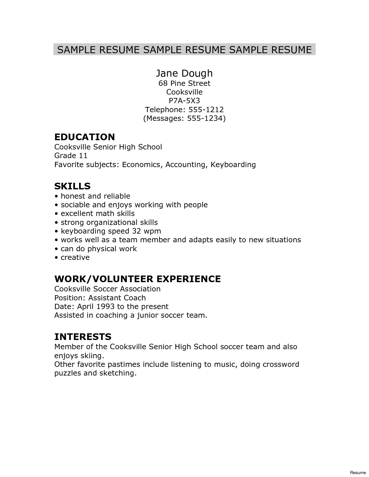 sample high school resume for college free templates application seniors examples of Resume Sample College Application Resume For High School Seniors