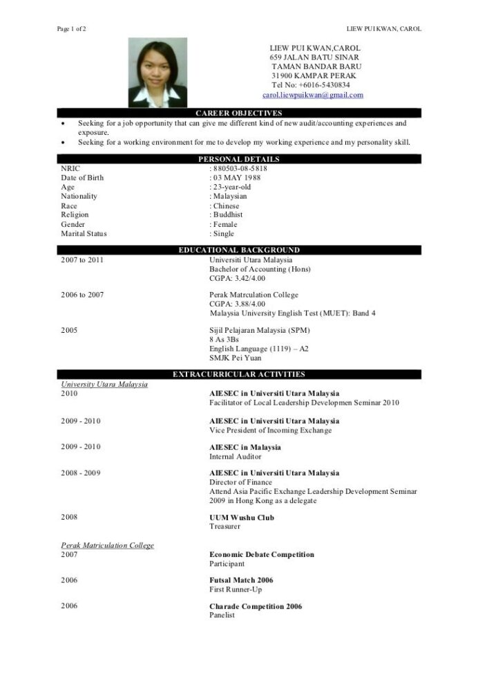 sample resume for fresh graduate without work experience easy cv format simple equity Resume Sample Resume For Fresh Graduate Without Work Experience