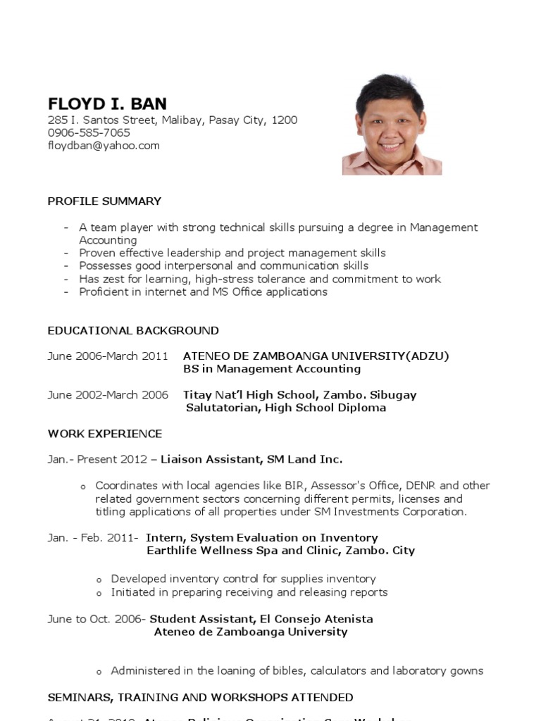 sample resume for fresh graduates further education business graduate without work Resume Sample Resume For Fresh Graduate Without Work Experience
