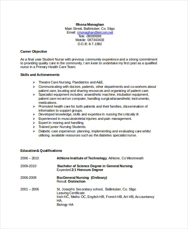 sample resume objectives pdf free premium templates examples of entry level nursing Resume Examples Of Resume Objectives Entry Level