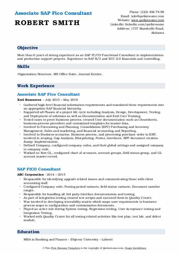 sap fico consultant resume samples qwikresume sample for years experience pdf claims Resume Sample Resume For Sap Fico Consultant 4 Years Experience