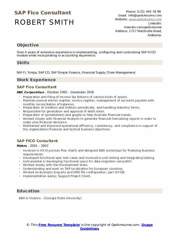 sap fico consultant resume samples qwikresume sample for years experience pdf computer Resume Sample Resume For Sap Fico Consultant 3 Years Experience
