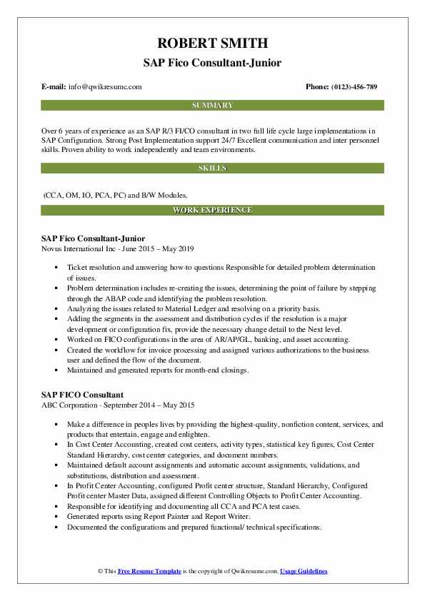 sap fico consultant resume samples qwikresume sample for years experience pdf free Resume Sample Resume For Sap Fico Consultant 3 Years Experience