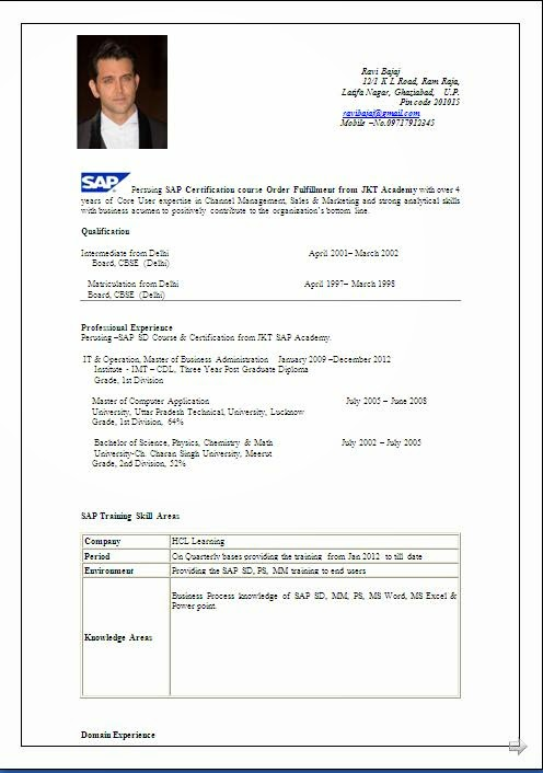 sap fico freshers resume sample for consultant years experience good format tamil teacher Resume Sample Resume For Sap Fico Consultant 3 Years Experience