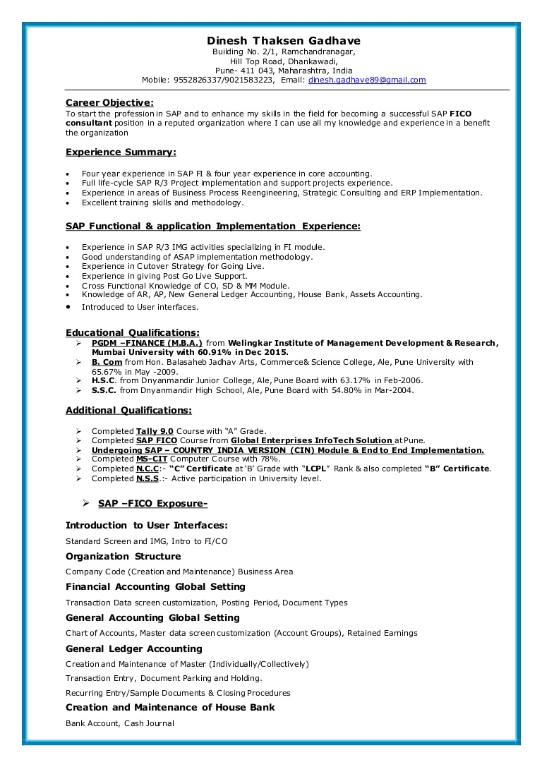 sap fico resume sample for consultant years experience sapficoresume thumbnail prep font Resume Sample Resume For Sap Fico Consultant 4 Years Experience