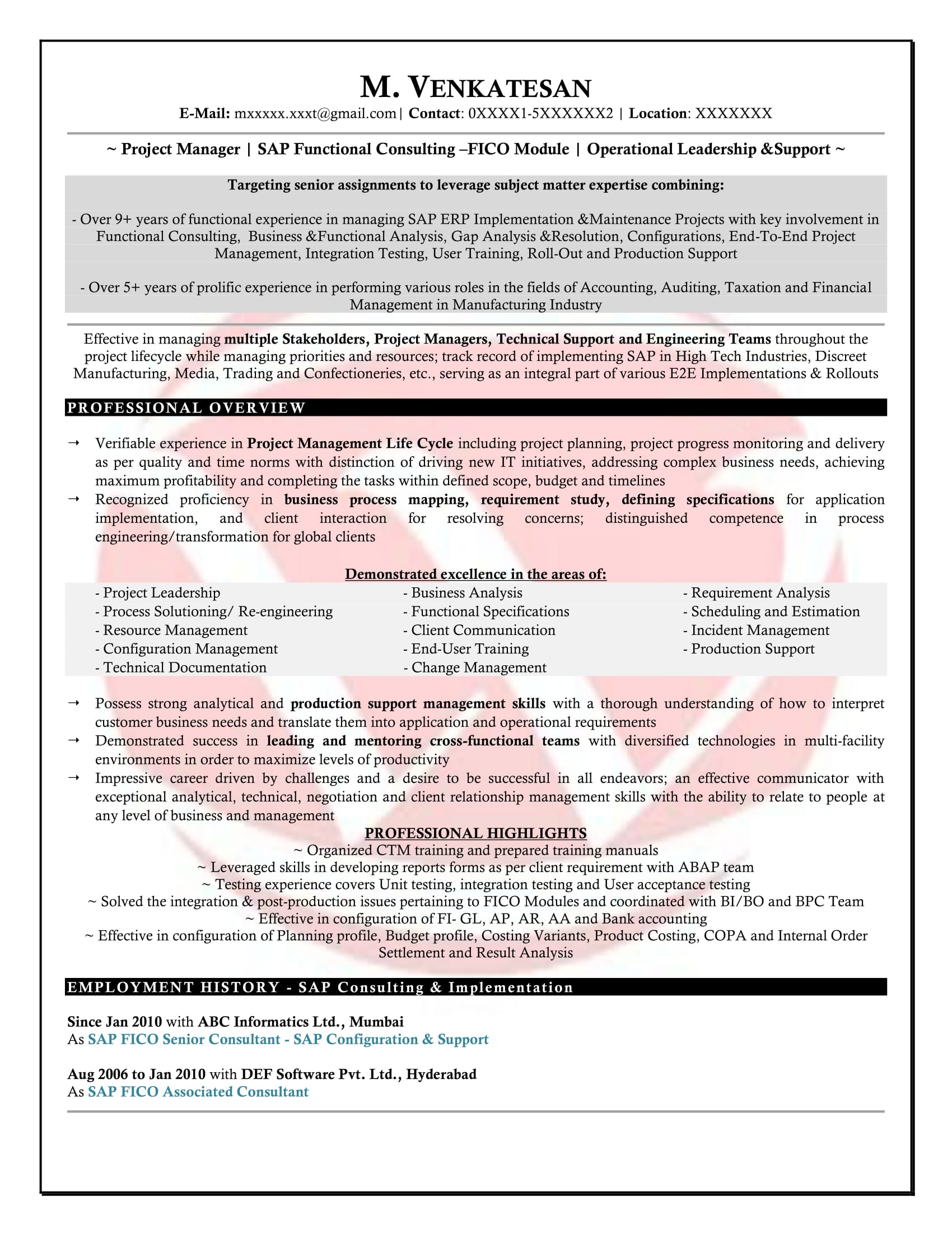 sap fico sample resumes resume format templates for consultant years experience outbound Resume Sample Resume For Sap Fico Consultant 3 Years Experience