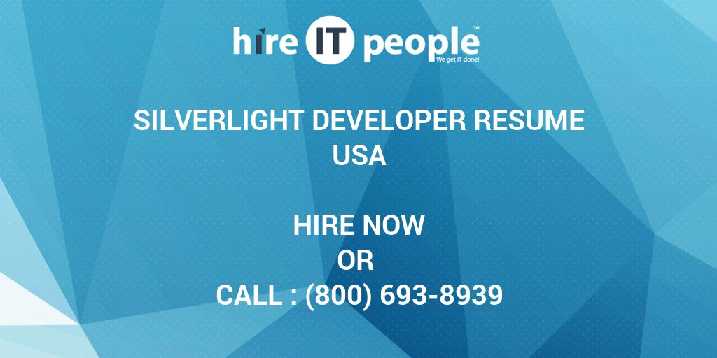 silverlight developer resume hire it people we get done objective examples entry level Resume Silverlight Developer Resume