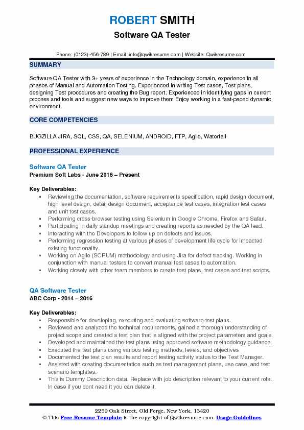 software qa tester resume samples qwikresume testing for years experience pdf Resume Software Testing Resume Samples For 5 Years Experience