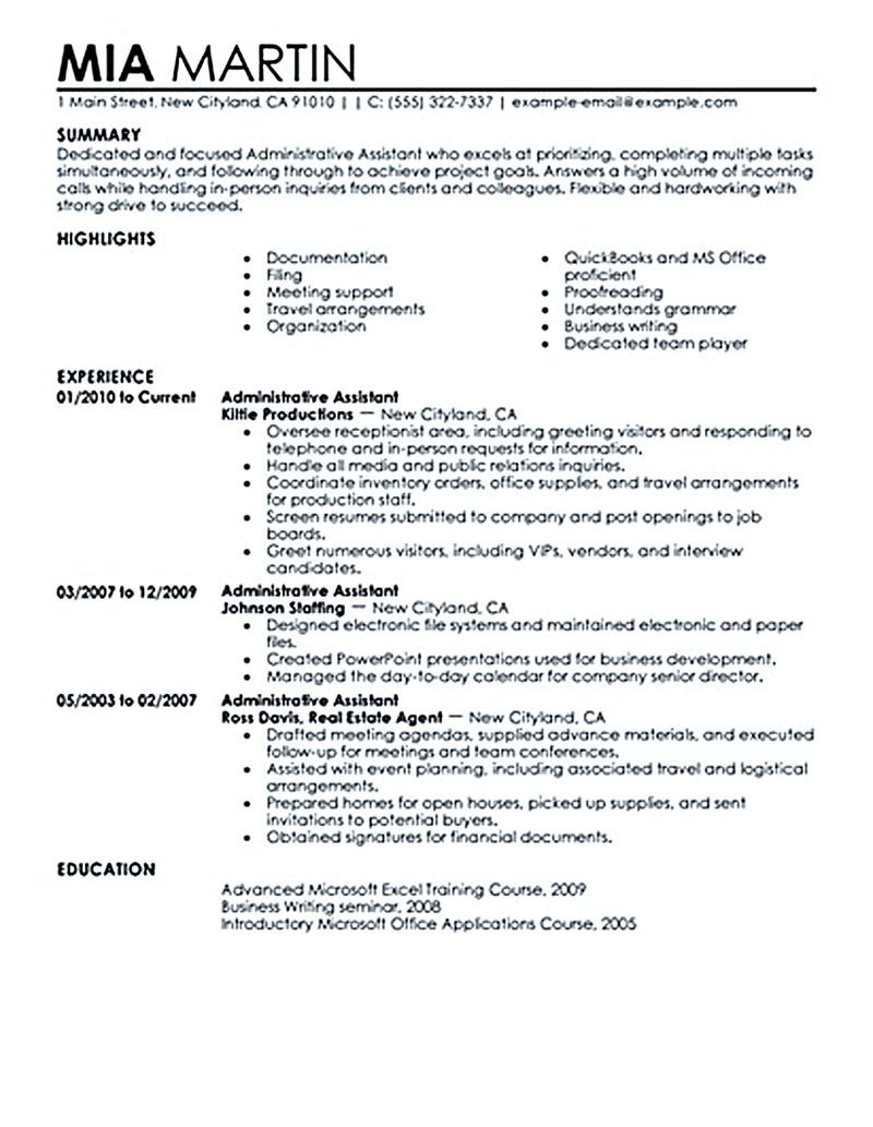 some important tips to have the best executive assistant resume office administrative Resume Administrative Assistant Resume Summary Examples