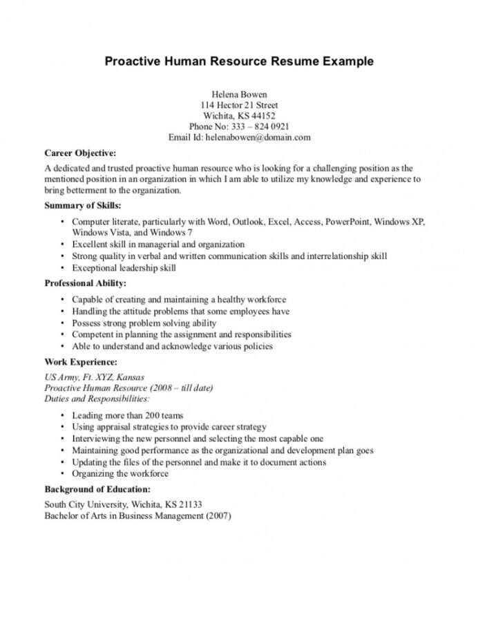 stand out resume objectives template builder example examples of entry level hr manager Resume Examples Of Resume Objectives Entry Level